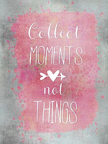 Artland Qualitätsbilder I Wandbilder Statement Bilder Sprüche Texte Illustration Pink Rosa D0IM Momente
