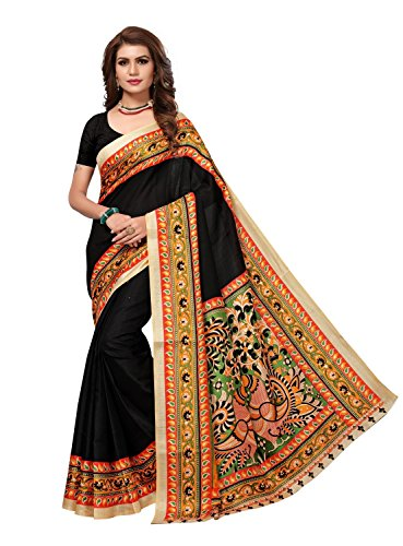 Mantra Kalamkari Khaddi Silk Saree For Women with Blouse Pices