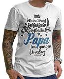 Stylotex Herren T-Shirt Basic Für den absolut perfektesten Papa | hochwertiges Männer Shirt zum Vatertag, Weihnachten, Geburtstag | in Deutschland Bedruckt, Größe:M, Farbe:Heather