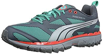 Puma Faas 500 Tr, Chaussures de trail homme - Vert (Pool Green/Silver Metallic), 40 EU (6.5 UK)