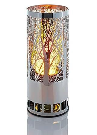Luxa Flamelight ronde Brazier vigne conception de la lampe avec réalistes flamme flammes lumière artificielle