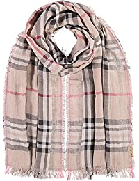FRAAS Men's Checkered Scarf Beige beige One Size (Manufacturer's Size: os)