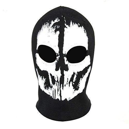 (Geister Schädel Maske Full Face Cosplay Balaclava Paintball Außenhaube)