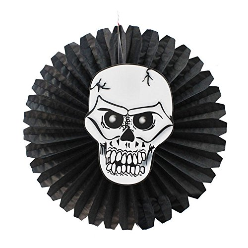Syeytx Black Hanging Papier Windrad Blume Fans Hintergrund Halloween Papier Fan Anhänger Party Dekoration Wand Fan, Hochzeit, Party, Tanz, Karneval