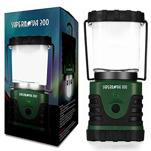 Bright LED Ultra Supernova Camping-Lanterna di emergenza, portatile e leggero da campeggio, Hiking, sopravvivenza, emergenza-Lanterna lunga durata, 300