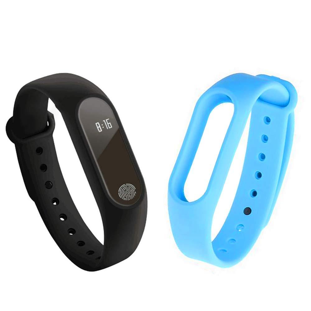 GerTong Fitness Pulsera de seguimiento de actividad con monitor cardíaco, banda inteligente M2, resistente al agua… 1