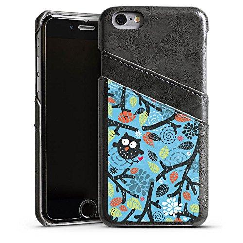 Apple iPhone 3Gs Housse étui coque protection Hibous Motif Motif Étui en cuir gris