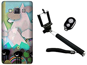 APE Back Cover and Selfie Stick for Samsung Galaxy Core prime G360