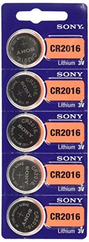 Sony Lithium 3V Battery Lithium-Ion (Li-Ion) 3V non-rechargeable battery–non-rechargeable Batteries (Lithium-Ion (Li-Ion), 3V, 90mAh) (3 Volt Lithium Batterie Cr2016)