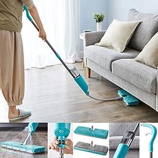 Vivo Technologies Flex – Spray extensible con almohadillas de microfibra de doble cara para madera dura, laminado, madera, vinilo húmedo y seco y azulejos de limpieza de suelos más seguro que el vapor