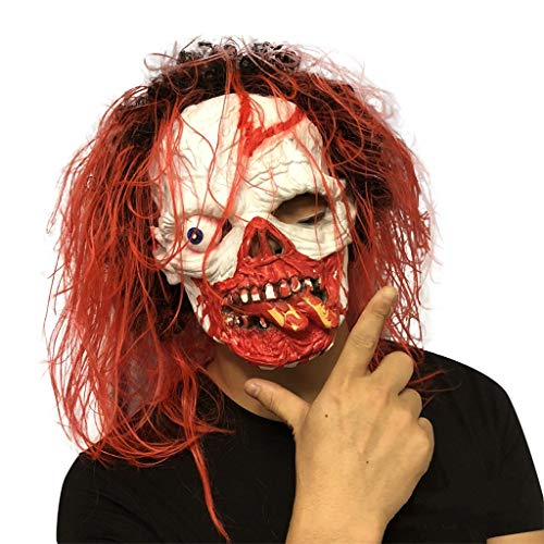 GXDHOME Latex Kopf Masken, Halloween Kostüm Resident Evil Horror Teufel Maskerade Horror Bloody Zombie Geist Creepy Fancy Dress (Resident Evil Fancy Dress Kostüm)