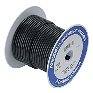 ANCOR 106010 Marine Grade Electrical Primary Tinned Copper Boat Wiring (12-Gauge, Black, 100-Feet)