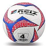Delicacydex Reiz 20 cm Umfang Hit Farbe Fußballtraining Bälle Anti-Slip Seemless Match Training Wettbewerb Fußball Fußball - Weiß & Rot & Blau