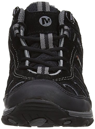 Merrell Chameleon Mid Lace Wtpf, Chaussures de Randonnée Hautes Garçon Noir (Black)