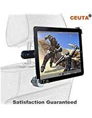 """CEUTA®, Universal Car Back Seat Holder Stand for iPad, Tab/Tablet, Mounting System 360 Degrees Adjustable for iPad Air & Other Tablets Upto 7"""" to 11"""" (Black & White)."""