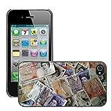 Hülle Case Schutzhülle Cover Premium Case // M00154398 Geld-Währung Finanzen Reichtum // Apple iPhone 4 4S 4G