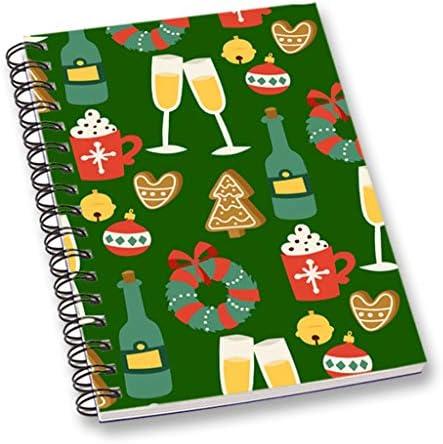 RADANYA RADANYA RADANYA Fête De Noël Imprimée Cahier De Notes Vert A5 Feuille Lisse Journal De Cahier Pour École, Bureau Stationary | Design Attrayant  c7b8b3