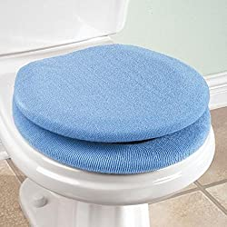 Toilet Seat Cover + Toilet Lid Cover- Super Warm Fleece - Metal Retaining Ring - Universal Fit - Machine Washable