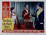 Belles On Their Toes, Lobby Card, Debra Paget, Hoagy Carmichael, Myrna Loy, 1952- affiche de réimpression 36x28 pouces - sans cadre