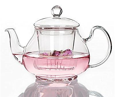 Cahookkot Teapot,théière en Verre résistant à Haute température, thé théière, 400ML,Cooking Coffee Pots, Coffee Equipment,400ML