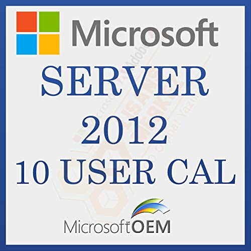 MS Server 2012 User 10 CAL | RDS | Con Fattura | Versione completa, licenza a vita iniziale, codice di attivazione della licenza e-mail e tempi di consegna del messaggio: da 0 a 6 ore