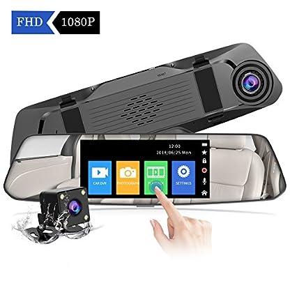 2019-Neue-VersionCHORTAU-Spiegel-Dashcam-48-Zoll-Touch-Screen-Full-HD-1080P-Weitwinkel-Frontkamera-und-wasserdichte-Rckfahrkamera-Auto-Kamera-mit-Notrufaufzeichnung-Reverse-Monitor-System