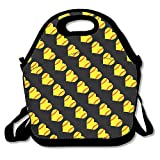 softball Heart Love lunch bag Tote borsetta portapranzo per scuola lavoro all' aperto