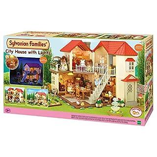 Sylvanian Families 2752 Autre Stadthaus mit Licht, Puppenhaus, Mehrfarbig, Norme
