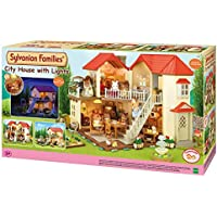 Epoch City House with Lights Sylvanian Families Casa de Mini muñecas y Accesorios,, 65.0 x 34.8 x 20.6 (2750)