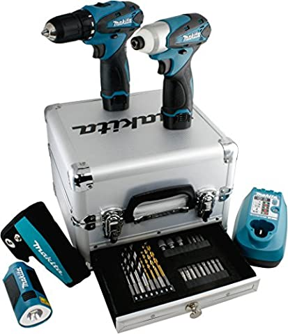 Makita Set DF330D + TD090D + ML 100 + Zubehr + Koffer