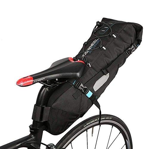 XPhonew Fahrrad Satteltasche, wasserdicht 10L Gepäcktasche, zum Befestigen hinter/unter dem Sattel, Rucksack, Fahrradtasche, Aufbewahrungstasche für Outdoor-Aktivitäten, mit aufrollbarer Öffnung