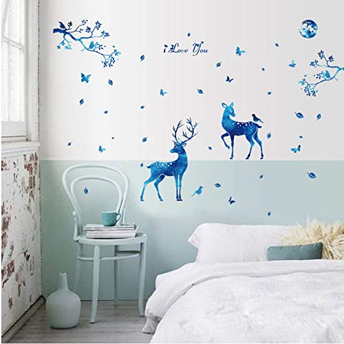 Asade Deer Silhouettes Decoration Decal Stickers Bedroom Living Room Walls Home Decor Window Glass Wall Stickers Room Arts Decor DIY
