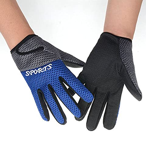 Outdoor Sport Cycling Gloves - WinCret Unisex Non-slip Breathable Soft Elastic Wearable Sweatproof Mountain Bike Full Finger Gloves Riding Gloves for Men and Women in Spring, Autumn and