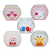 Babyfriend Baby Toddler Girls 5 Pack Assortment Cotton Training Pants