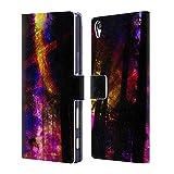 Head Case Designs Offizielle Haroulita Saturn-Blitz Raum Brieftasche Handyhülle aus Leder für Sony Xperia Z5 Premium/Dual