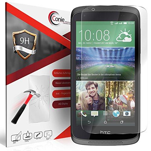 Conie 9H518 9H Panzerfolie Kompatibel mit HTC Desire 526 / 526g, Panzerglas Glasfolie 9H Anti Öl Anti Fingerprint Schutzfolie für Desire 526 / 526g Folie HD Clear