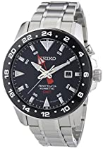 Seiko Sportura Kinetic GMT Herren-Armbanduhr XL Analog Automatik Edelstahl SUN015P1