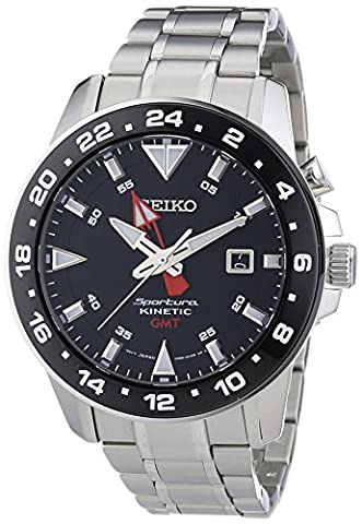 Seiko men's Automatic Watch Analogue Display and Stainless Steel Strap SUN015P1