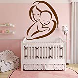 Ajcwhml Adesivo per Mamma e Bambino Decorazione maternità Amore Decorazione Baby Room Decorazione Vinile Adesivo Impermeabile Wall Art Decal 43cm x 52cm