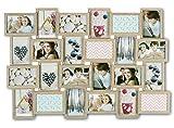 levandeo Holz Bilderrahmen 57x84cm für 24 Fotos Format 10x15cm Glasscheiben in Farbe: Eiche gekälkt