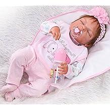 NPK 57cm Reborn Bebé de cuerpo entero de silicona de vinilo Babbo hecho a mano cuerpo de la niña de la muñeca rebote más popular preferido regalo de ...
