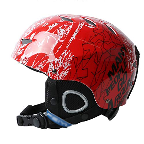 GXQ Skihelm Kinder Outdoor Sports Equipment Helm Einstellbare Fahrrad Motorrad (Color : Red)