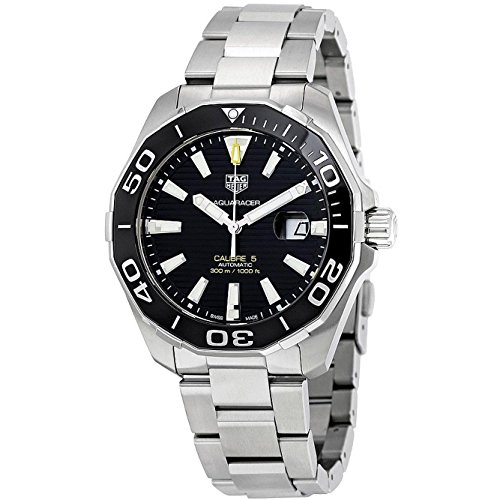 TAG Heuer Men's 43mm Steel Bracelet & Case Sapphire Crystal Automatic Black Dial Watch WAY201A.BA0927