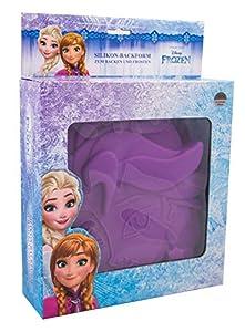 POS 28353 - Molde de silicona Disney Frozen Elsa, aprox. 15 x 16 x 4 cm, 100% silicona platino apta para alimentos, resistente al calor y al frío de 230 ° hasta 60 °C, apto para lavavajillas.