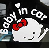 leso Baby on Board Autocollant pour voiture Stickers fille S003