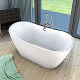 AcquaVapore freistehende Badewanne Wanne FSW13 170x80cm Whirlpool Luftmassage, Armatur:mit Armatur AFSW01 +210.-EUR