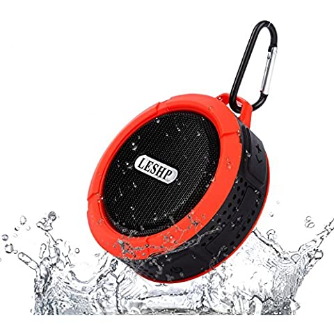 LESHP Mini Altavoz Bluetooth Impermeable para Ducha Ciclismo Playa Camping