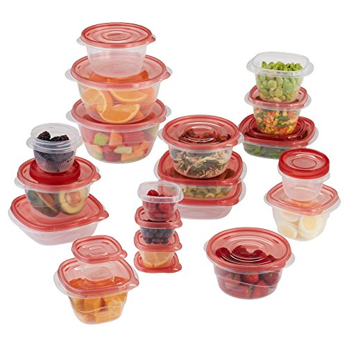 Rubbermaid TakeAlongs - 40-piece Food Storage Containers - Red by Rubbermaid