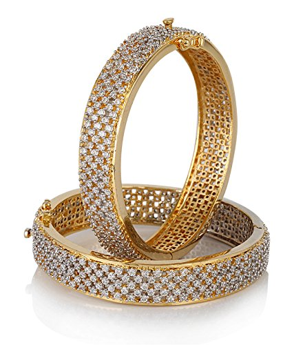 Jewels Galaxy Broad Hand Made American Diamond Bangles