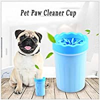 RIANZ Portable Dog Paw Washer Cum Cleaner Soft Silicone Plunger to Scrub Each Foot and Wash Away Dirt, Mud and Debris…